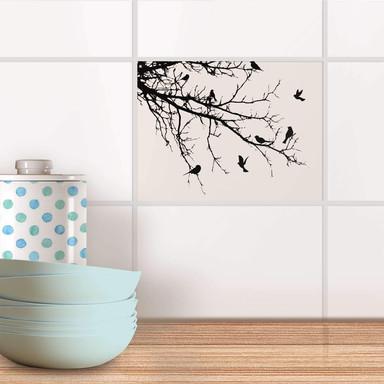Fliesenfolie - Tree and Birds 1