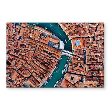 Glasbild Colombo - Venedig von oben