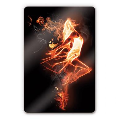 Glasbild Flammentänzer