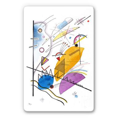 Glasbild Kandinsky - Durchgehender Strich