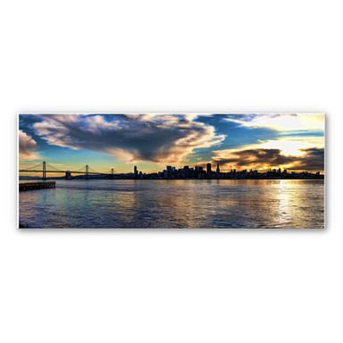 Hartschaumbild San Francisco Skyline - Panorama