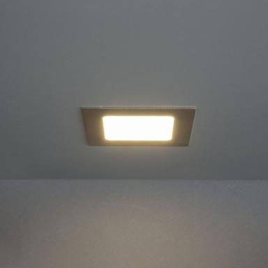 LED Panel 9W 600lm 3000K in Nickel-satiniert 120x120mm eckig