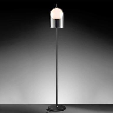 LED Stehleuchte Grays in Schwarz E27
