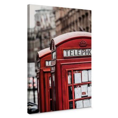 Leinwandbild Britische Telefonzelle
