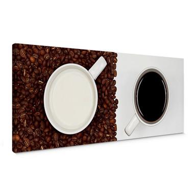 Leinwandbild Lavsen - White Espresso - Panorama