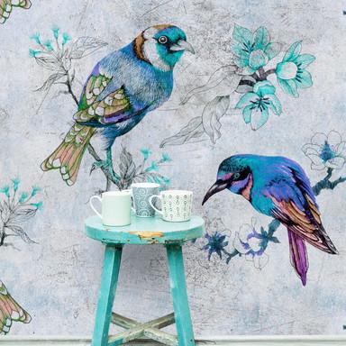 Livingwalls Fototapete Walls by Patel 2 love birds 1 - Bild 1