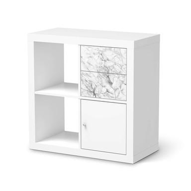 Möbelfolie IKEA Kallax Regal Schubladen - Marmor weiss