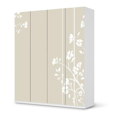 Möbelfolie IKEA Pax Schrank 236cm Höhe - 4 Türen - Florals Plain 3