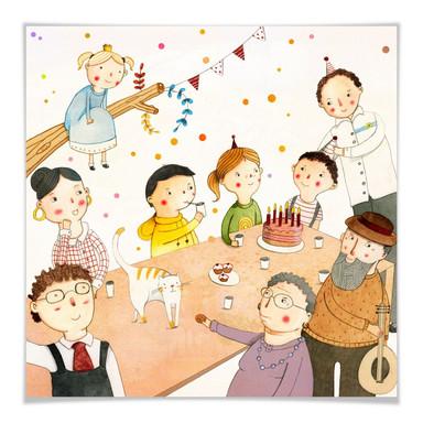 Poster Loske - Geburtstagsfeier