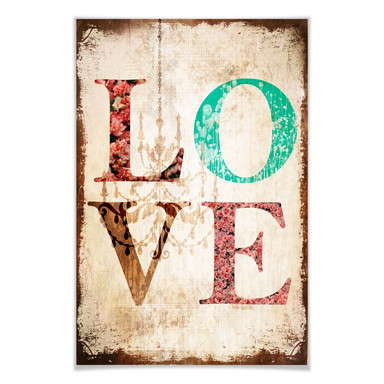 Poster Love - Vintage