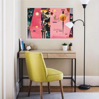 Wallprint Kandinsky - Rosa Rot