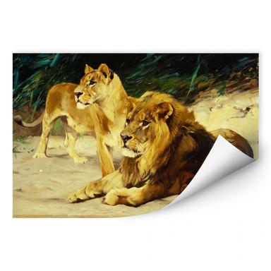 Wallprint Kuhnert - Löwenpaar