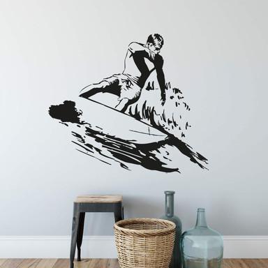 Wandtattoo Surfer