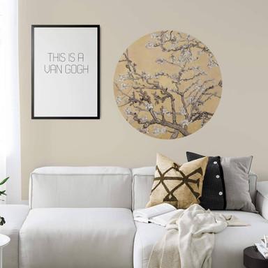 Wandtattoo van Gogh - Mandelblüte Creme - Rund