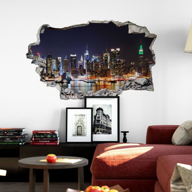 3D Wandtattoo New York Skyline