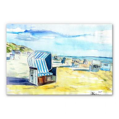 Acrylglasbild Bleichner - Sylter Strand