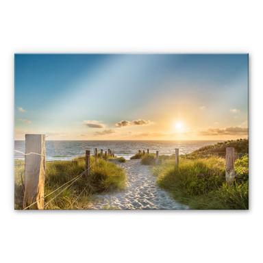 Acrylglasbild Sonnenuntergang an der Ostsee