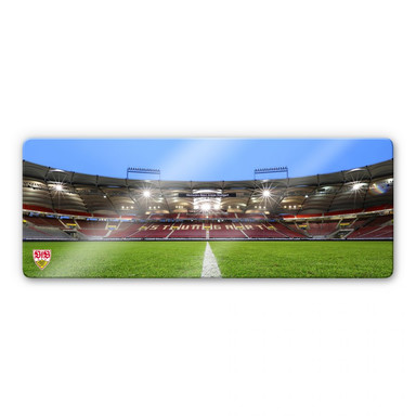Glasbild VfB Stuttgart Arena Tribüne - Panorama