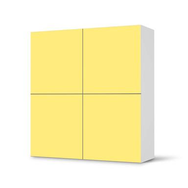 Klebefolie IKEA Besta Schrank 4 Türen - Gelb Light- Bild 1