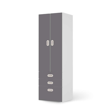 Klebefolie IKEA Stuva / Fritids - 3 Schubladen und 2 grosse Türen - Grau Light- Bild 1