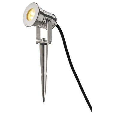 LED Strahler Dasar, inkl. Erdspiess, inkl. Bodenplatte, Edelstahl 316. 12-24 V, IP67