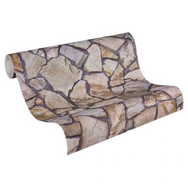 Mustertapeten A.S. Création Tapete Wood'n Stone Beige, Braun, Grau