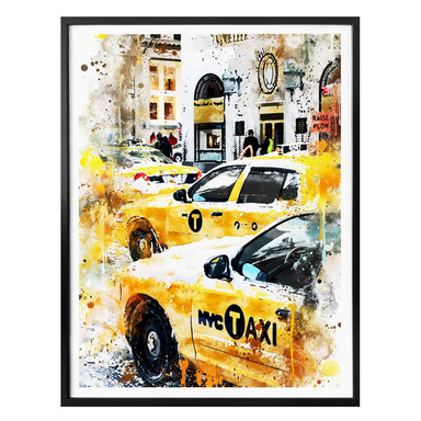 Poster Hugonnard - Watercolour: New York Cabs
