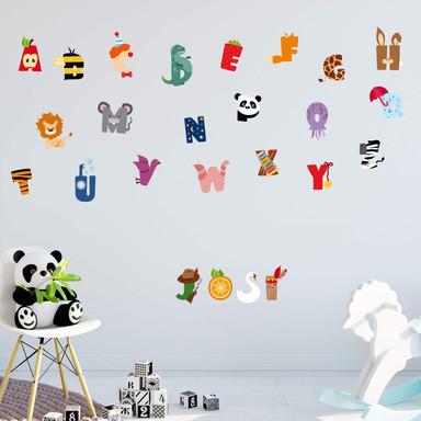 Wandsticker Kinder Alphabet
