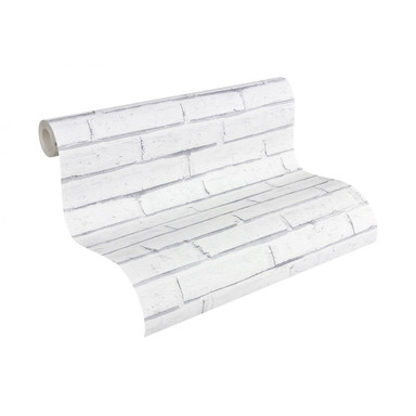 A.S. Création Steinoptik Papiertapete Authentic Walls grau, weiss