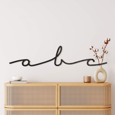 Acrylbuchstaben - Einzelbuchstaben Schreibschrift