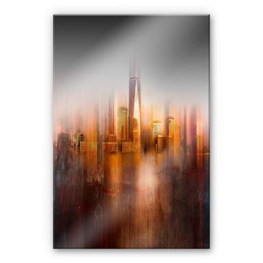Acrylglasbild Chiriaco - New York im Abendlicht