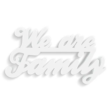 Dekobuchstaben 3D-Anhänger -We are Family-