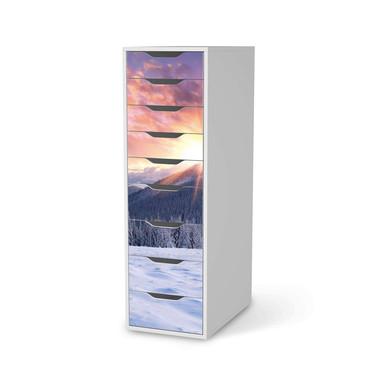 Folie IKEA Alex 9 Schubladen - Zauberhafte Winterlandschaft
