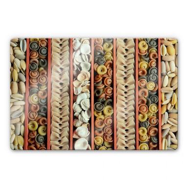 Glasbild Pasta Collection