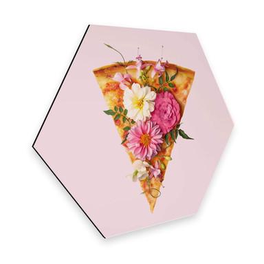 Hexagon - Alu-Dibond - Fuentes - Pizza und Blumen
