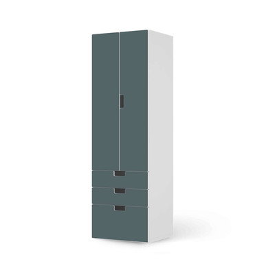Klebefolie IKEA Stuva / Malad - 3 Schubladen und 2 grosse Türen - Blaugrau Light- Bild 1