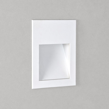 LED Wandeinbauleuchte Borgo in Weiss-Matt 2W 68lm 120x90mm 2700K