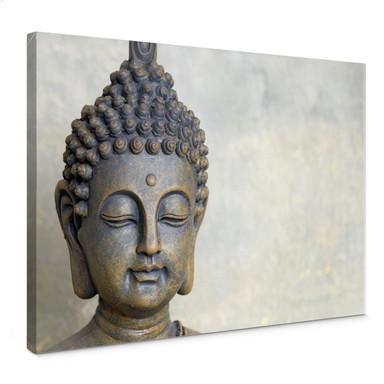 Leinwandbild Buddha Gesicht