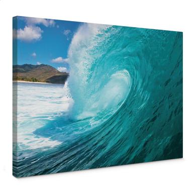 Leinwandbild Welle