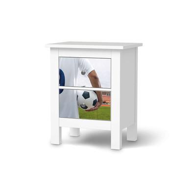 Möbelfolie IKEA Hemnes Kommode 2 Schubladen - Footballmania