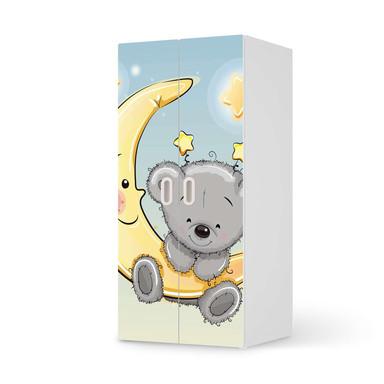 Möbelfolie IKEA Stuva / Fritids Schrank - 2 grosse Türen - Teddy und Mond