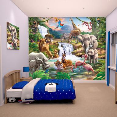 Papiertapete Dschungel-Abenteuer - Bild 1