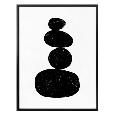 Poster Nouveauprints - Pebbles 3 black