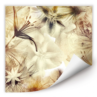 Wallprint Foggy Flowers
