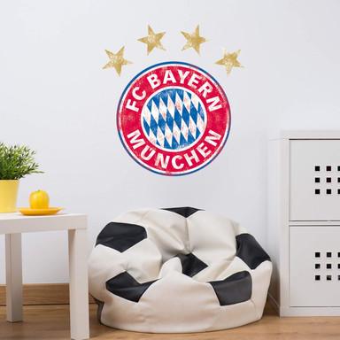 Wandsticker FC Bayern München Logo used look