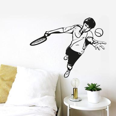 Wandtattoo Tennisspieler