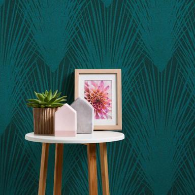 A.S. Création Vliestapete New Elegance Palmentapete, grün, blau