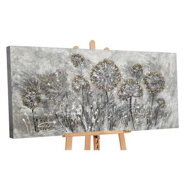 Acryl Gemälde handgemalt Frühlingsblumen 140x70cm