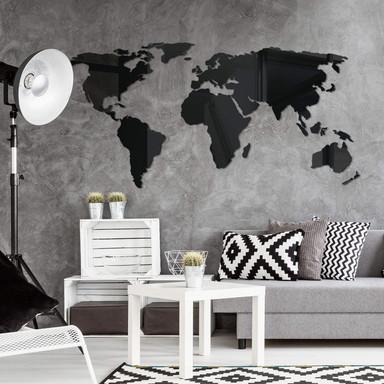 Acryldeko Weltkarte