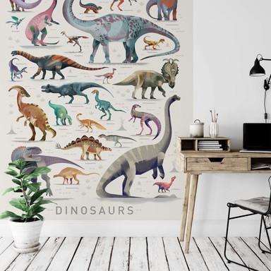 Fototapete Braun - Dinosaurs
